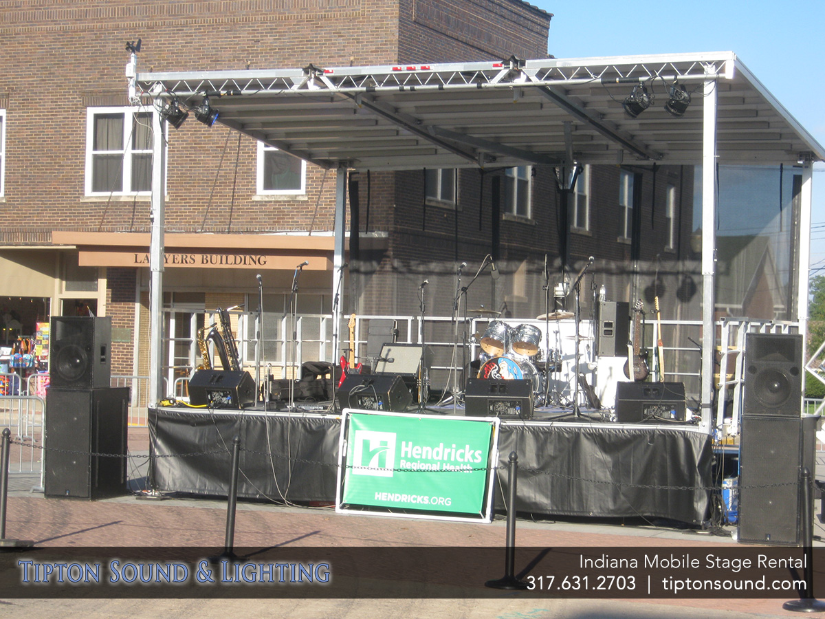 Tipton Sound Lighting Indianapolis Portable Stage Al