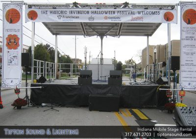 Indy Mobile Stage Rental Indianapolis Outdoor Stage Festival Stages